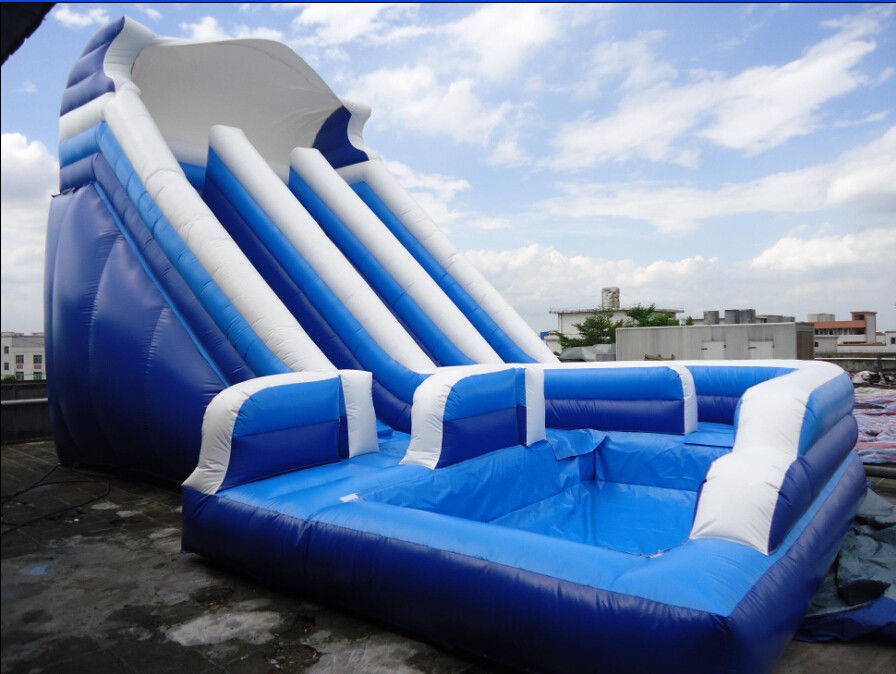 Unti riptured commercial inflatable water slides with - Commercial swimming pool water slides ...