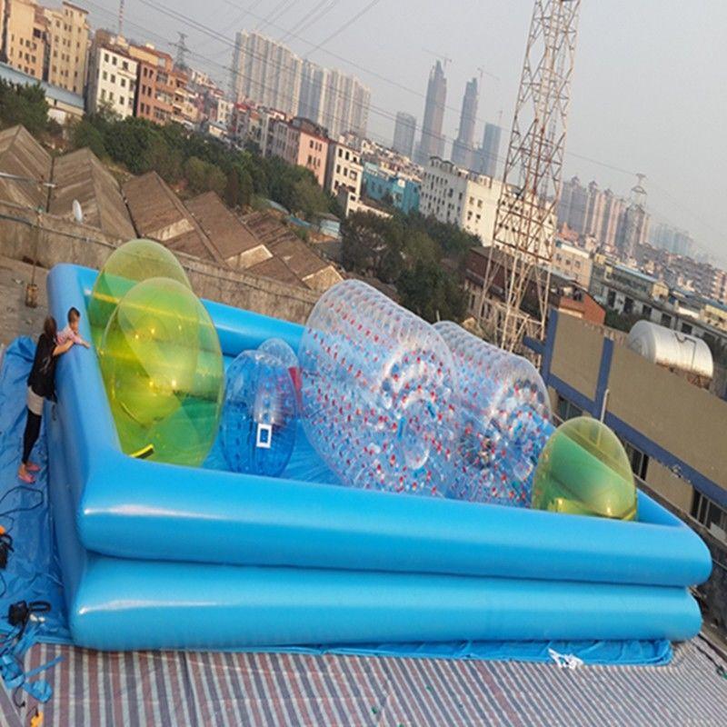 Piscinas inflables de la lona del pvc de 0 9 mil metros for Piscinas lona precios