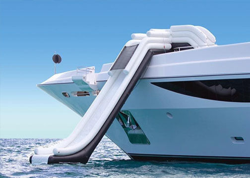 Customized PVC Tarpaulin Airtight Water Slide Inflatable Yacht Slide for yacht