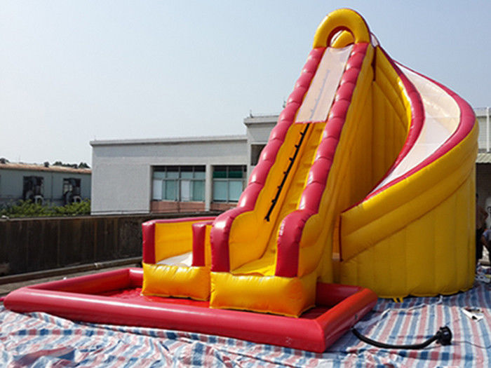 Outdoor Kids Inflatable Water Slide With Pool / PVC ...