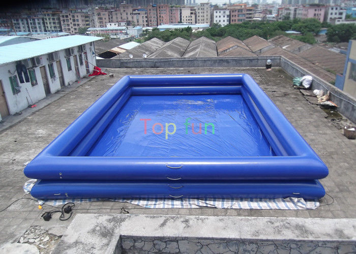 12 X 8 X 1 3 M Double Wall Tube Pvc Tarpaulin Inflatable Swimming Pools Above Ground For Amusement