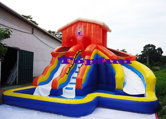 Kids Inflatable Water Slide Waterproof Backyard Bounce House Swimming Slides Pool