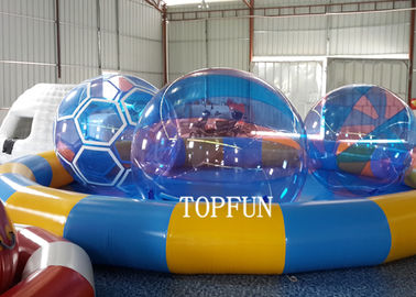 CE 7.3 m Diameter Plastic Swimming Pool With Water Walking Ball