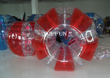Red Human Inflatable Bumper Bubble Ball Waterproof For Adults