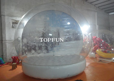 Custom Clear PVC Bubble Balloon Inflatable Snow Globe Tent With Airtight Base