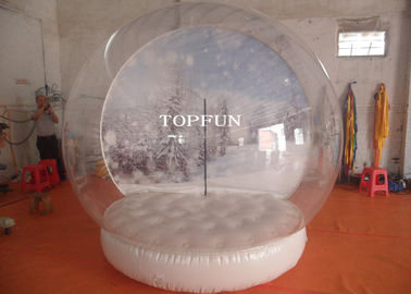 Exhibition Show Christmas Inflatable Snow Globes Outdoors 3m Diameter