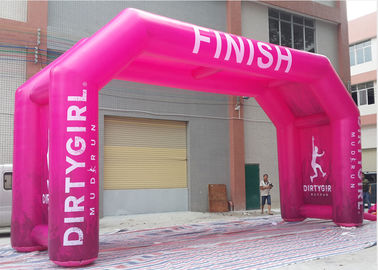 PVC Tarpaulin Inflatable Finish Arch With Fully Printing Activity / Sports Use
