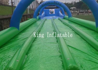 Custom 1200m Inflatable Slip N Slide PVC Tarpaulin Four Lanes Inflatable Slip Slide