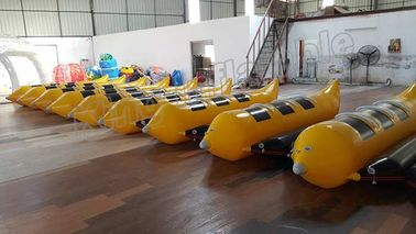 3 Seats Inflatable Water Banana Boat With 0.9mm PVC Tarpaulin Material