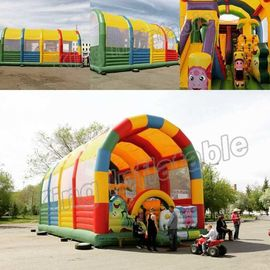 Giant Animal Children Inflatable Amusement Park With CE Certification
