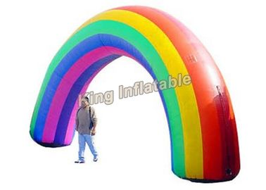 Colorful Oxford Fabric Rainbow Inflatable Arches For Event Entrance