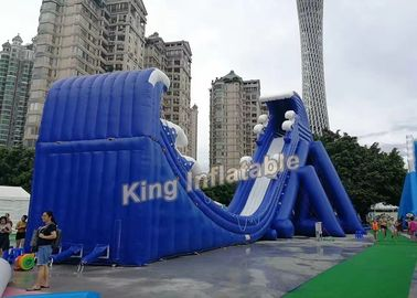New Fashion Blue Commercial Giant Inflatable Slide For Adult And Kids