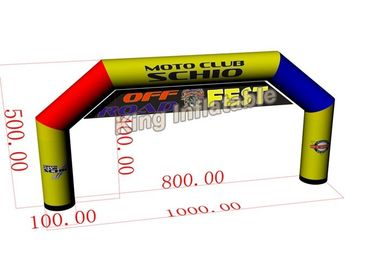 10m*5m Mix Color Large PVC Custom Inflatable Arch / Inflatable Advertising
