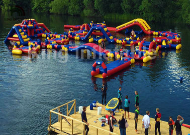Giant Trampoline Floating Inflatable Water Parks For Rental Silk - Screen Printing