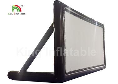 7m Long 0.6mm Black Inflatable Movie Screen For Outdoor Cinema