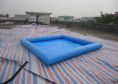 China Square PVC blue Inflatable Water Pool / Water Pool For Kids Fun 32cm Depth factory