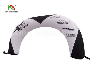 4.5mH PVC Tarpaulin White Inflatable Race Arch Entrance For Advertising