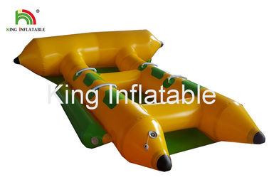 China Commercial PVC Inflatable Towable Water Flying Fish Boat For 4 People factory