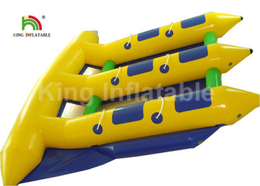 China 6 Person Seat Inflatable Flying Fish Tube Banana Boat For Summer Sport Water Game factory