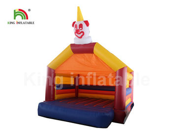 4*4m Orange Commercial Clown Inflatable Jumping Castle For Party And Event