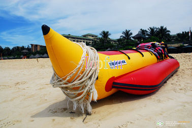 Sea Inflatable Fly Fishing Pontoon Boats For Children And Adult 0.9mm PVC Tarpaulin / Banana Boat Price