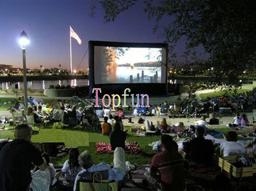 Outdoor Inflatable Movie Screen / Projection Screen For Home Yard Or Advertisement Display