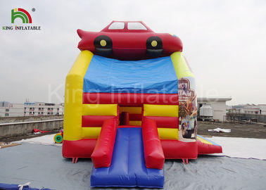 PVC Fireproof Commercial Inflatable Bouncers For Kids Jumping Car Houses