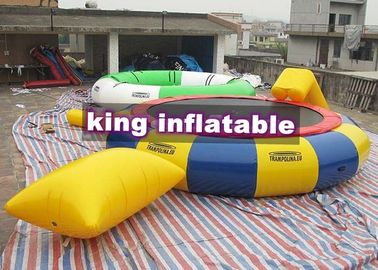 Customized Logo PVC Inflatable Water Toy / Trampoline Combine Jumping Bag / Slide