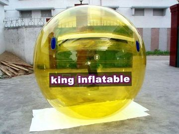 Amusemnt Inflatable Walk On Water Ball 1.0mm PVC Ti-Zip Yellow