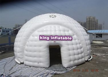 Airtight Inflatable Tent / White Dome Tent Short-lived For Project Show Events