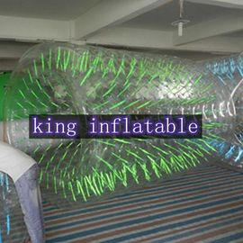 Commercial Grade Clear Inflatable Water Walking Roller For Summer Water Game Parks