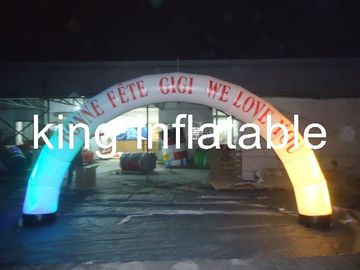 Digital printing Led light with Oxford fabric material  inflatable advertising arch for promotion