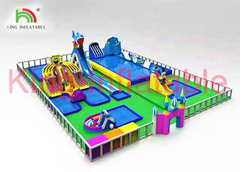 Custom Outdoor Multitheme Inflatable Water Slide Park For Play Centre