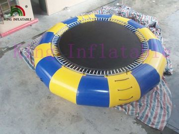 5m Diameter 0.9mm PVC Tarpaulin Bouncer Trampoline Inflatable Water Toy For Water Park