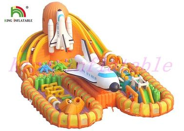 Fire - Retardant Giant  Inflatable Sports Games / Launching Base Unique  Blow Up Obstacle Course