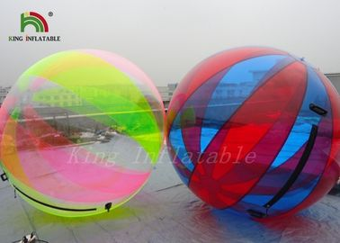 China Durable 1.0mm PVC Inflatable Water Ball Large Transparent Multicolored Strips factory