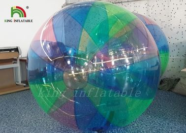 1.0 mm PVC Stripe colorful Blow Up Water Walking Ball For Amusement Park