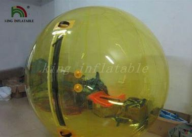 China Yellow Ball Inflatable Walk On Water Ball For Children Amusement factory