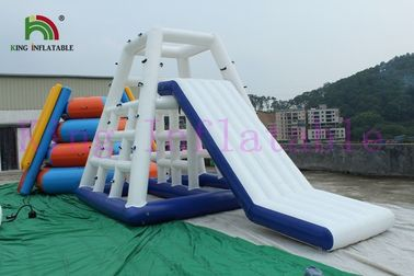 Commercial Inflatable Water Toy Floating Slide Game / Aqua Slides for Sea , Lake