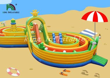 Bright Color Inflatable Combo Playground Multiplay Amusement Field For Kids
