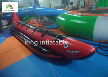 China Red Shark Inflatable Banana Boats With 6 Handle For Adult Commercial factory