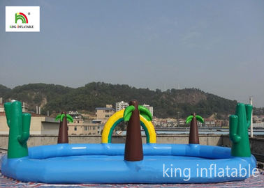China Fire - Retardant Jungle Inflatable Elliptic Pool Ranibow For Outdoor factory