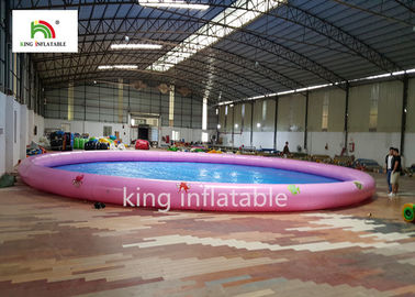 18m Diameter Round Inflatable Swimming Pools With Animal Printing PVC