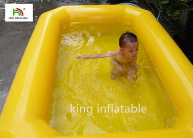 China Yellow Double Tubes Blow Up Swimming Pool For Children In Backyard factory