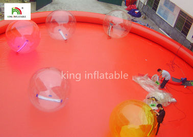China Red Large Inflatable Swimming Pools For Adults Outside Commercial Activity factory