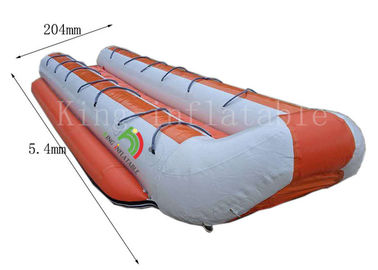 Customized Double Row Inflatable Banana Boats 5.4 *2.04 m 14 Seats