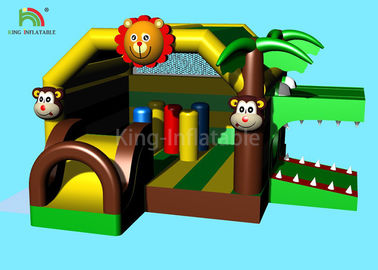 5.5 m Animal Forest Theme Inflatable Castle Bouncer Crocodile Jumping Bounce House