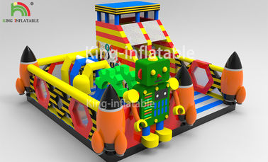 China Children Inflatable Jumping Castle Robot Model With Slide 2 Year Warranty factory