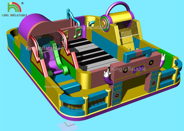 Music Theme Piano Inflatable Amusement Park Giant Commercial Jumping Castle