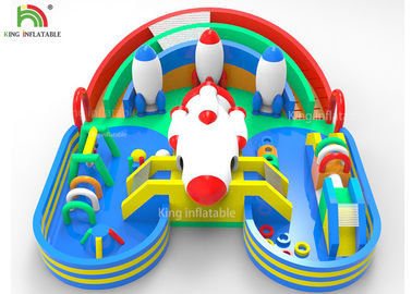 China Child Inflatable Park Spacecraft Theme Park For Commercial Amusement Party Rental factory